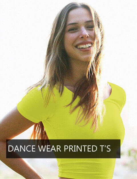 DANCE WEAR PRINTED T'S