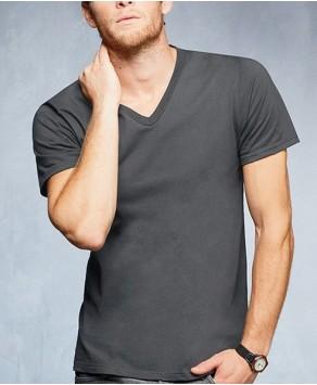 Anvil Customised V-Neck Printed Unisex T-Shirt