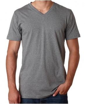 Bella Canvas Deep V-Neck Custom Printed Men's T-Shirt