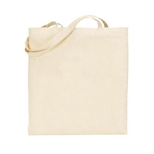 Natural Grey 100% Cotton Tote Bag with logo print