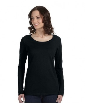 Ladies Anvil Personalised Sheer Scoop Long Sleeve Tee