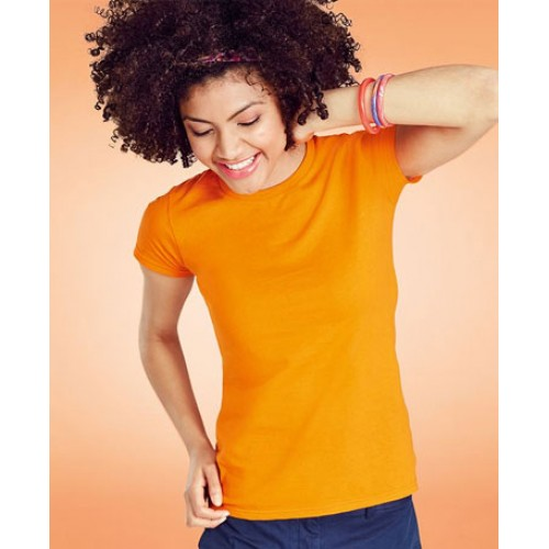 Personalised Fruit of the Loom Women-Fit Sofspun® T-Shirt