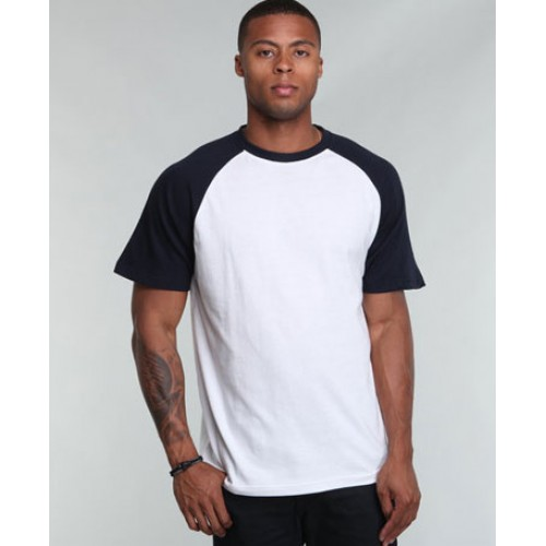 Raglan Sleeve Contrast Custom Logo Printed T-Shirt