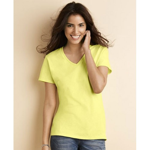 Custom Gildan women Premium Cotton V-Neck T-Shirt