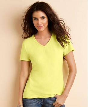 Custom Gildan women Premium Cotton V-Neck T-Shirt