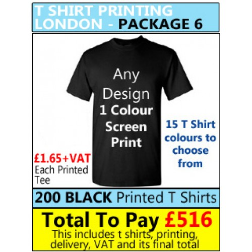 63c3348b76b 200 Coloured T Shirt Printing with 1 colour