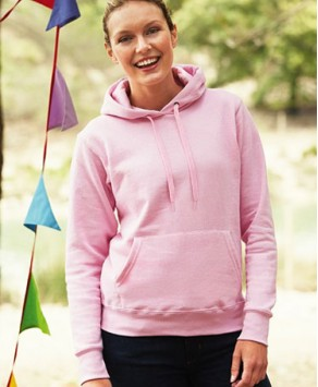 Personalised Fruit of the Loom Lady-Fit Classic Hooded Sweatshirt